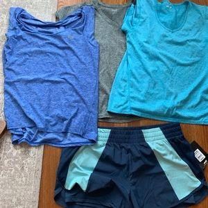 Exercise shirts and shorts bundle